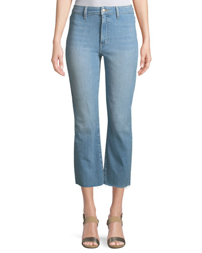 Jane High-Rise Straight-Leg Crop Jeans