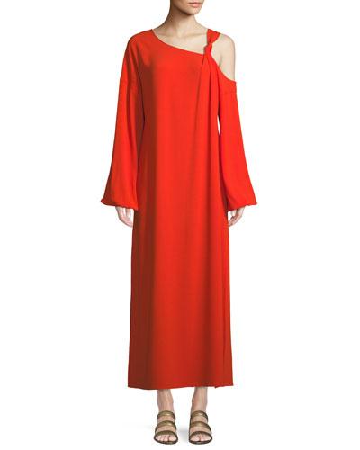 Shontae Cold-Shoulder Long-Sleeve Cocktail Dress