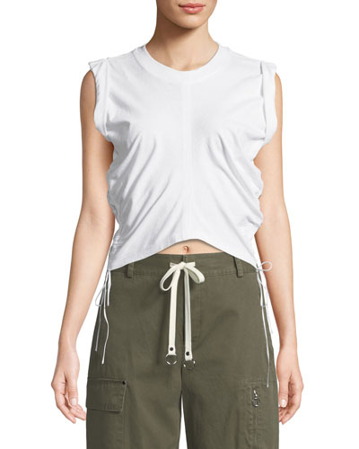 High-Twist Jersey Crop Top w/ Side Ties