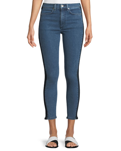 Mazie Skinny-Leg Jeans with Side Stripe