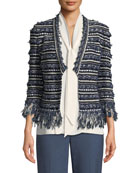 Lofty Floats Knit 3/4-Sleeve Jacket