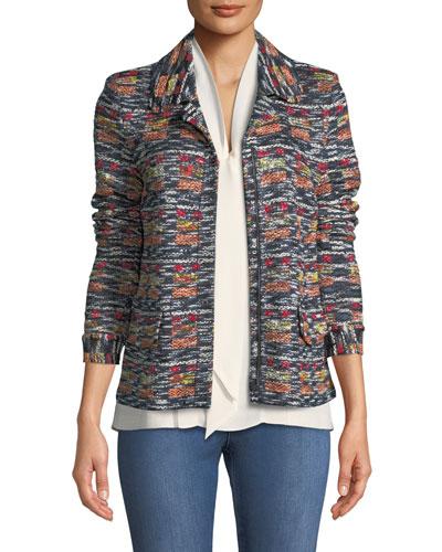 Painterly Tweed Knit Jacket