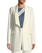Bella Double Weave Jacket w/ Angled Shawl Collar