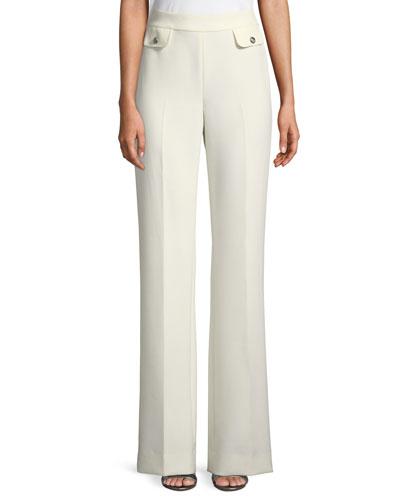 Bella Mid-Rise Double Weave Pants