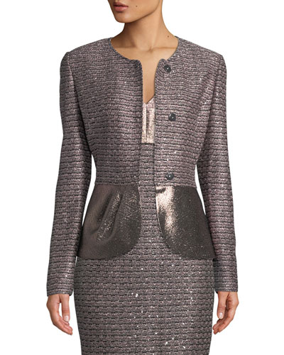 Twisted Sequin Knit Jacket