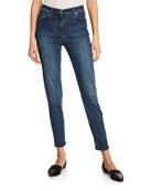 Stretch Denim Slim Ankle Jeans