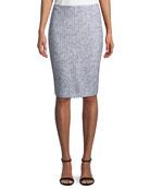Olivia Boucle Knit Pencil Skirt