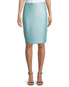 Glitter Sequin Knit Pencil Skirt
