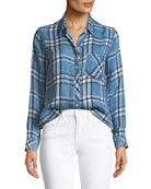 Hunter Button-Front Plaid Shirt