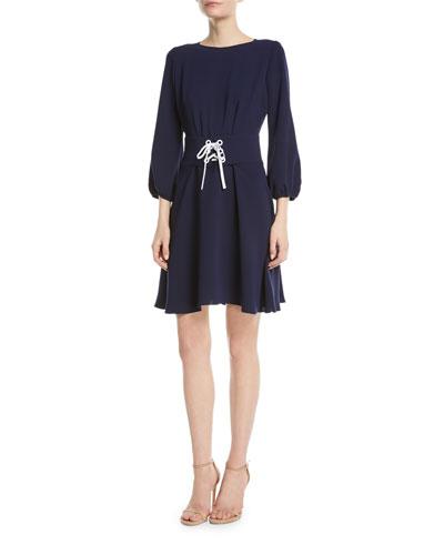 Tomi Lace-Up Mini Dress