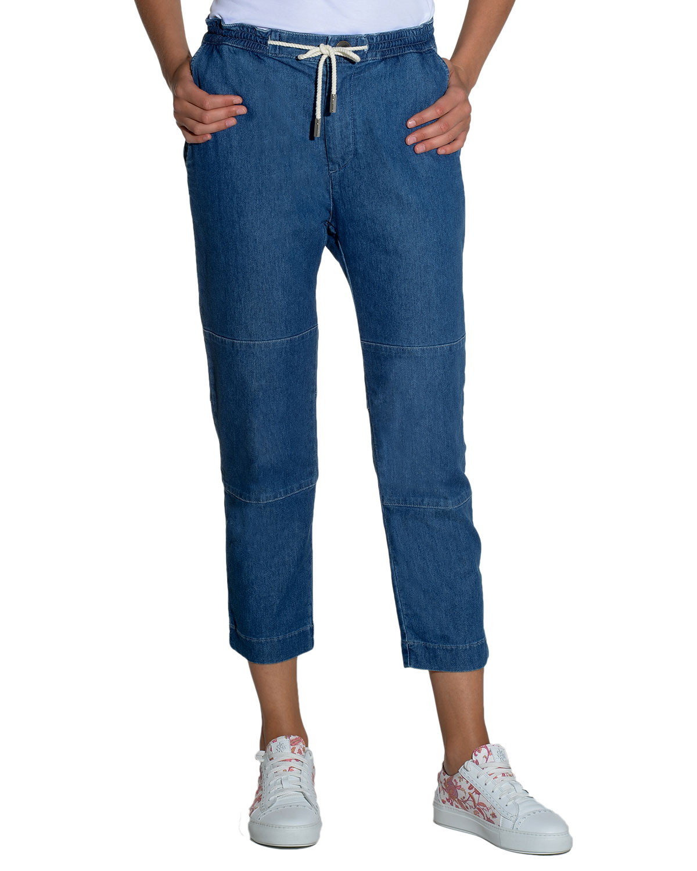 Soft Denim Drawstring Pants