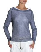 Bateau-Neck Knit Sweater