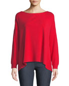 Olivia Drop-Shoulder Tie-Back Sweater