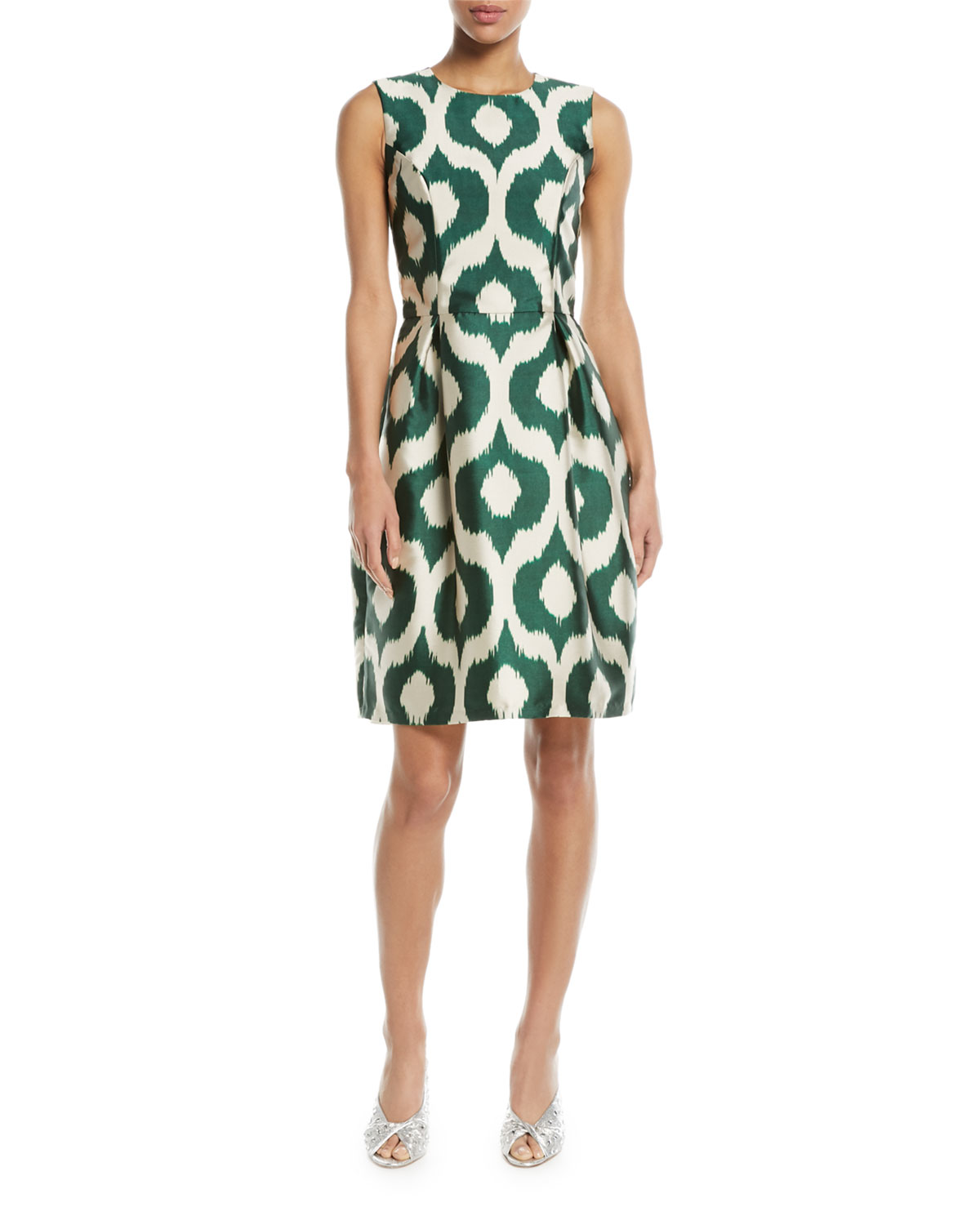 Divan Batik-Print Sleeveless Sheath Dress