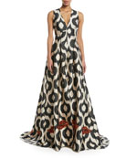 Erva Embellished Puddle-Hem Gown