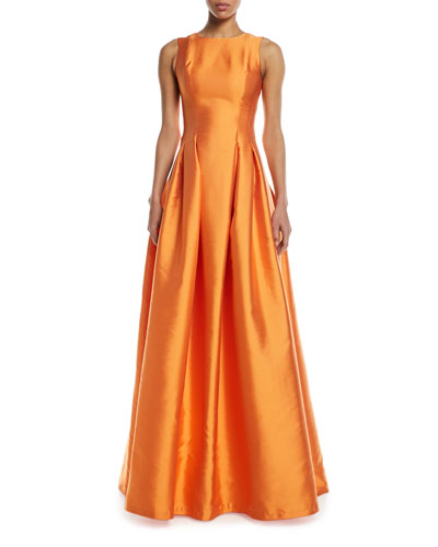 Marmara Taffeta Sleeveless Ball Gown