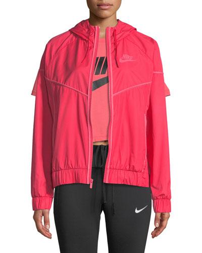 Windrunner Hooded Zip-Front Track Jacket