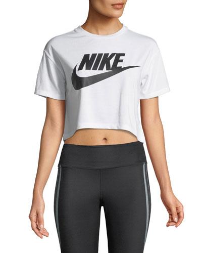 Essential Short-Sleeve Crop Top