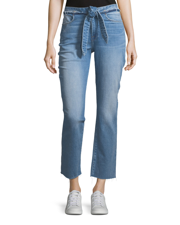 Le High Tie-Waist Straight-Leg Jeans