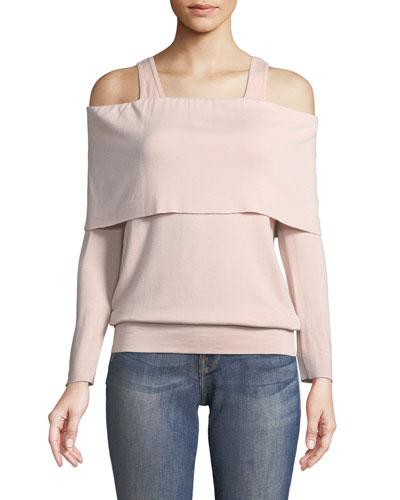 Soulmate Cold-Shoulder Long-Sleeve Sweatshirt