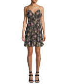 Object of Desire V-Neck Floral-Print Dress