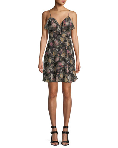 Object of Desire V-Neck Floral-Print Dress
