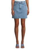 Moss Denim Mini Skirt