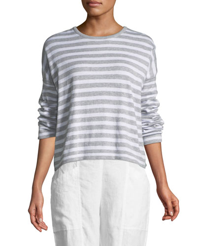 Organic Linen Striped Sweatshirt