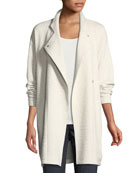 Double-Knit Jacquard Kimono Jacket