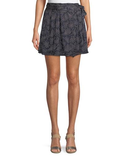 Cort Tie-Side Printed Skirt