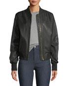 Grasslands Leather Bomber Jacket