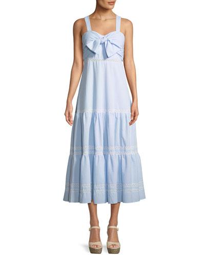 Seersucker Maxi Coverup Dress