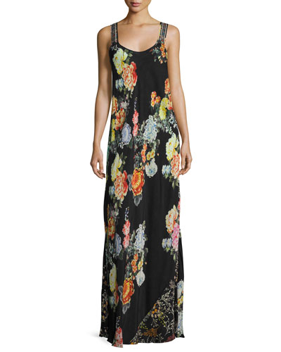 Plus Size Mixed-Print Maxi Dress