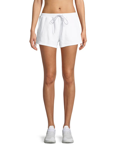 Holm Fleece Track Short with Logo Trim