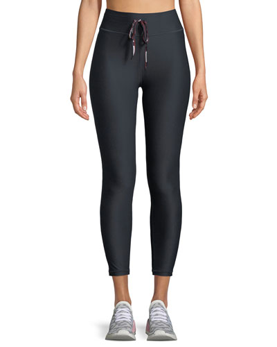 Compression Drawstring Midi Pants
