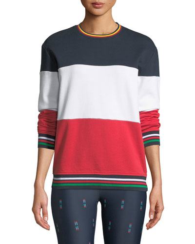 Colorblock Crewneck French Terry Sweatshirt