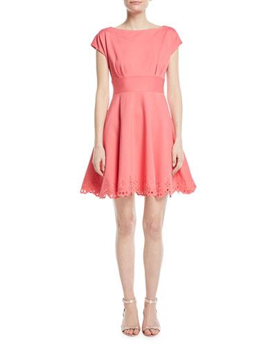 cutwork fiorella eyelet-trim dress