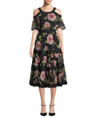 vintage bloom shane dress w/ cold shoulder