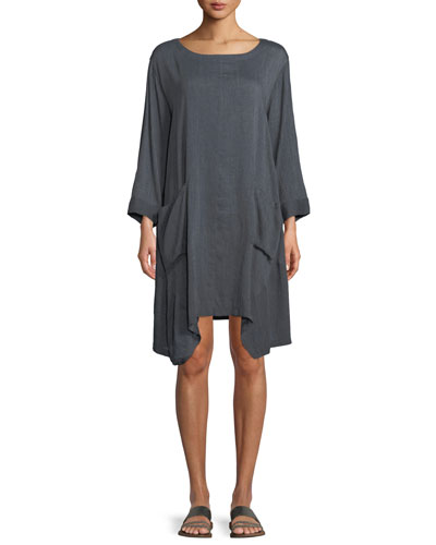 Gili Chambray Two-Pocket Tunic Dress