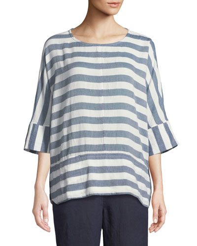 Delia Horizontal Striped Tunic
