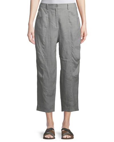 Page Linen Cropped Trousers