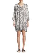 Gituja Outlined Flower-Print Dress