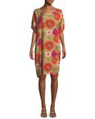 Nene Retro Flower Printed Dress