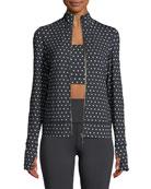 polka-dot scallop jacket