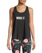 work it racerback performance tank