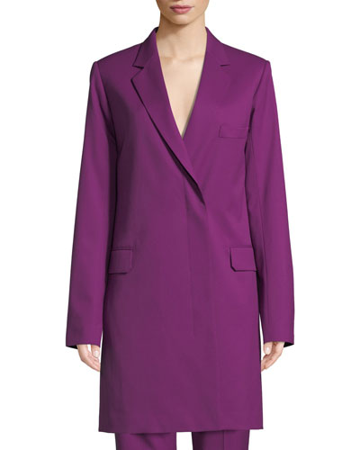 Slim Wool Blazer Coat