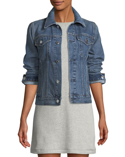 829c906e6d1 HELMUT LANG Striped Detail Denim Jacket