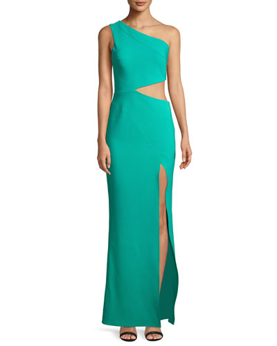 Cameron One-Shoulder Dress w/ Cutout