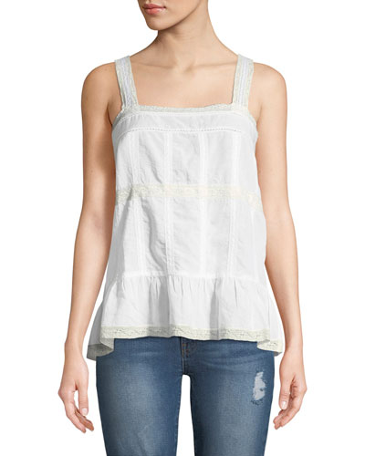 Teacup Tank with Lace Trim