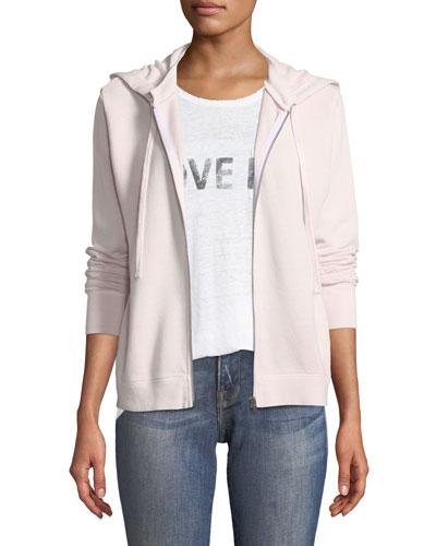 Rock Hooded Zip-Front Sweatshirt